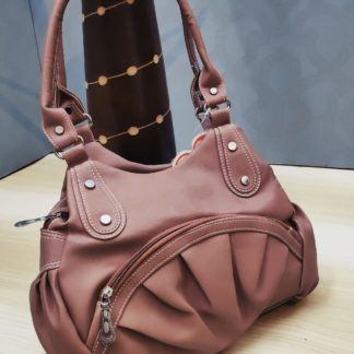 Light Salmon Brown Pure Artificial Leather Purse For Women-VT2087101A
