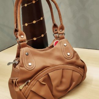 Cream Brown Colored Pure Artificial Leather Purse For Women-VT2087101D
