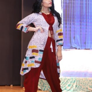 Trendy Three Piece Dhoti Set Rayon With Digital Print For Party Wear-ARYADRESSMAKER111A