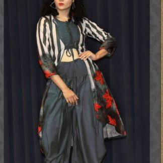 Dazzling Grey Colored Three Set OF Dhoti Heavy Designer Rayon With Dgital Print For Women-ARYADRESSMAKER111C