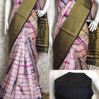 Party Wear Pink & Black Tussar Silk Sarees at Best Price in India