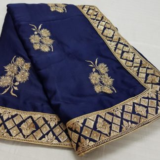 Womens Wear Entrancing Royal Blue Colored silk sarees online at Best Price in India