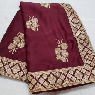 Function Wear Pretty Maroon Colored silk sarees online at Best Price in India
