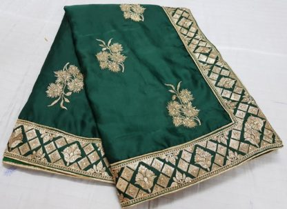 Womens Wear Dark Green Colored silk sarees online at Best Price in India
