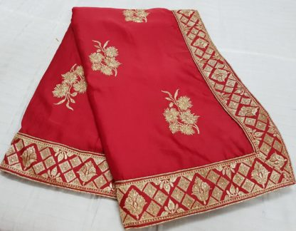 Party Wear Delightful Orange Colored silk sarees online at Best Price in India