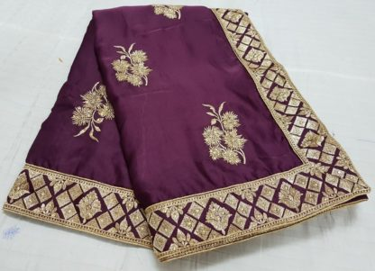 Wedding Wear Trendy Wine Colored silk sarees online at Best Price in India