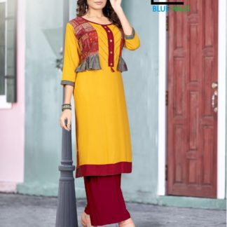Yellow Color Printed Latest Rayon Kurti For Women-IN25-9
