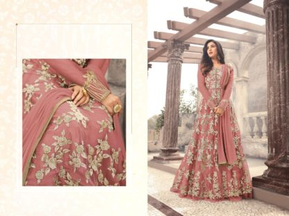 Party Wear Net Fabric Embroidered Semi Stitched Salwar Suit