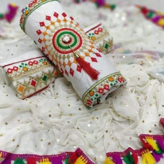 Function Special White Color Cotton Embroidered Salwar Suit For Women