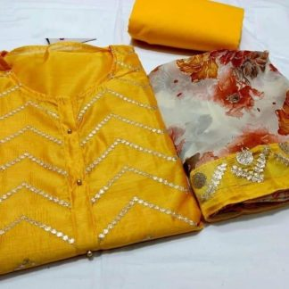 Yellow Color Special Modal Silk Dress Material