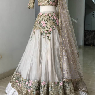 Bollywood Style Remarkable Misch.B Golden Semi Stitched Lehenga-MINIAB148