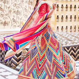 Party Wear Attractive Jacqueline Printed Semi Stitched Lehenga-MINIAB180