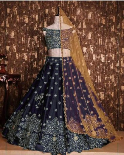 Adorinng Blue Colored Party Wear Lehenga Choli Tapeta Silk With Embroidered Work-VT1159DVD9054B