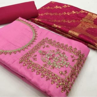 Mesmerising Light Pink Colored With Heavy Mirror Work With Banarasi Dupatta Party Wear Salwar Suit-VT2006109LPP