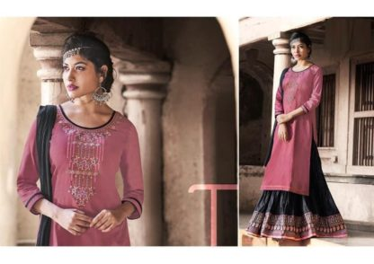 Energetic Pink & Black Cotton Embroidered Work Party Wear Salwar Suit-VT1007201PB