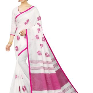 Heavy Linen Saree