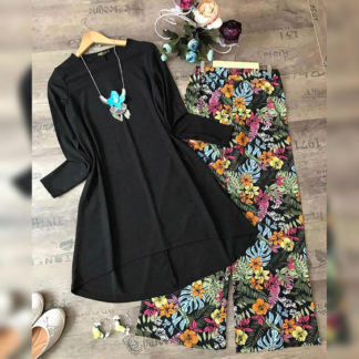 Black Forest Digital Print Heavy American Crepe Top and Palazzo AW-590