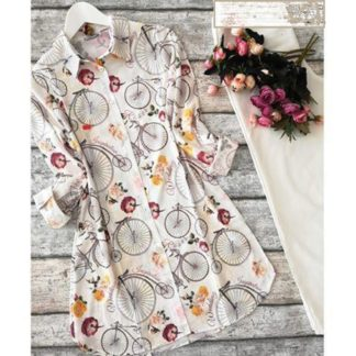 Bicycle Beige Digital Print Heavy American Crepe Top and Palazzo AW-591