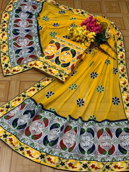 Yellow Color Mango Design Beautiful Embroidery All Over Work Designer Fashion Suits