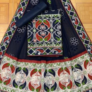 Navy Color Mango Design Beautiful Embroidery All Over Work Designer Fashion Suits