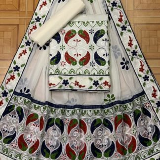 White Color Mango Design Beautiful Embroidery All Over Work Designer Fashion Suits