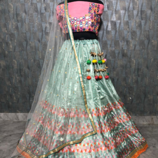 Satin Bengulory Silk Amazing Print Bright Color Designer Lehenga RC169