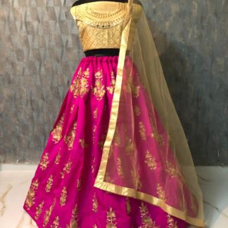 Tapeta Silk Zari Embroidery Pink Color Designer Lehenga RC171-4