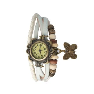 Astounding white Color PU leather Belt Ladies Watch