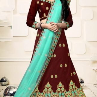 Gorgeous Maroon Designer Velvet Silk Diamond Work Lehenga Choli Design Online
