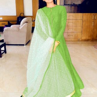 Pretty Green Banglori Silk With Lining Gown