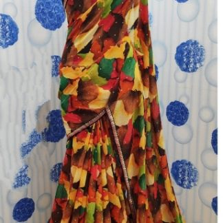 Charming Multi Colored Pure Weight Less Printed Saree