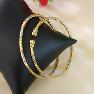 Captivating Golden & Silver Plated Artificial Bangles Set