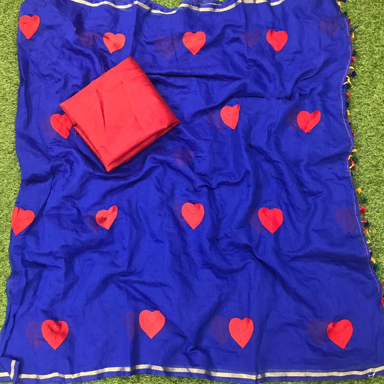 Gorgeous Royal Blue Chanderi Silk With Designer Work Designer Saree